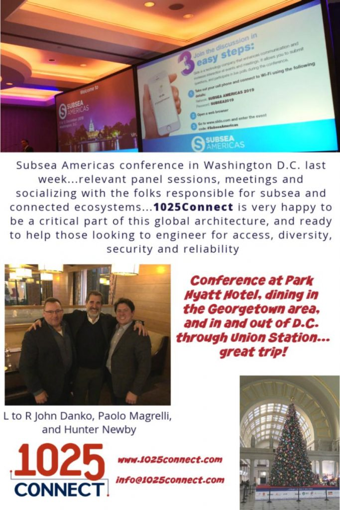 Subseas Americas conference in Washington D.C.