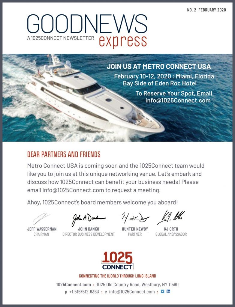 Goodness Express, a 1025Connect newsletter. Join us at Metro Connect USA